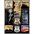 Nostalgic Art Magnet Set Route 66 logo 9x