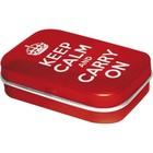 Nostalgic Art Mint Box Keep Calm and Carry On