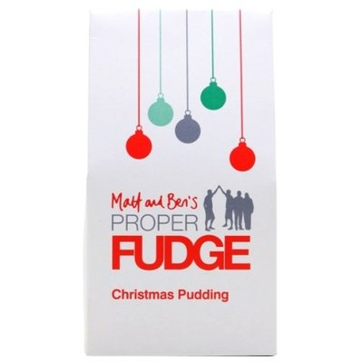 Matt and Bens Proper Fudge Christmas Pudding Fudge Box