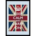 Printed Mirror Keep Calm and Carry On