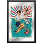 Printed Mirror My Garage My Rules