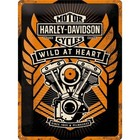 Nostalgic Art Tin Sign Harley Davidson Wild at Heart 30x40 cm