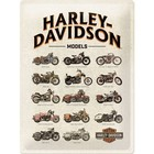 Nostalgic Art Tin Sign Harley Davidson Model Chart 30x40 cm
