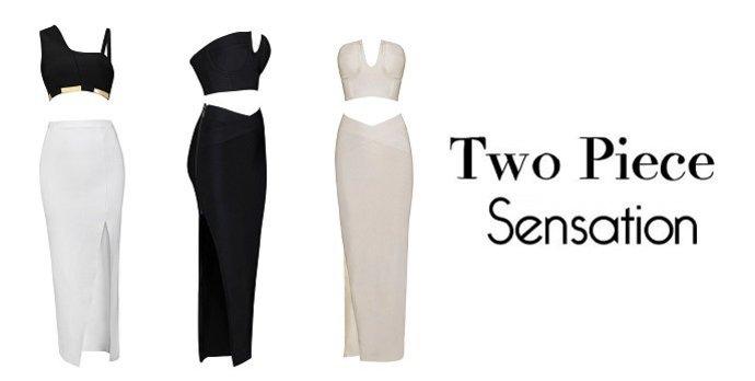 Two Piece Bandage Dresses