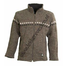 Shakaloha 2-Square Collar Wollen Vest ChocoBruin