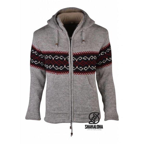 Shakaloha Flaka Hood Grey Woolen Jacket