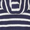 Shakaloha Split Ziphood dunkelblau weiss gestreifte Strickjacke mit abnehmbarer Kapuze fÌ_r MÌ_nner oder Unisex