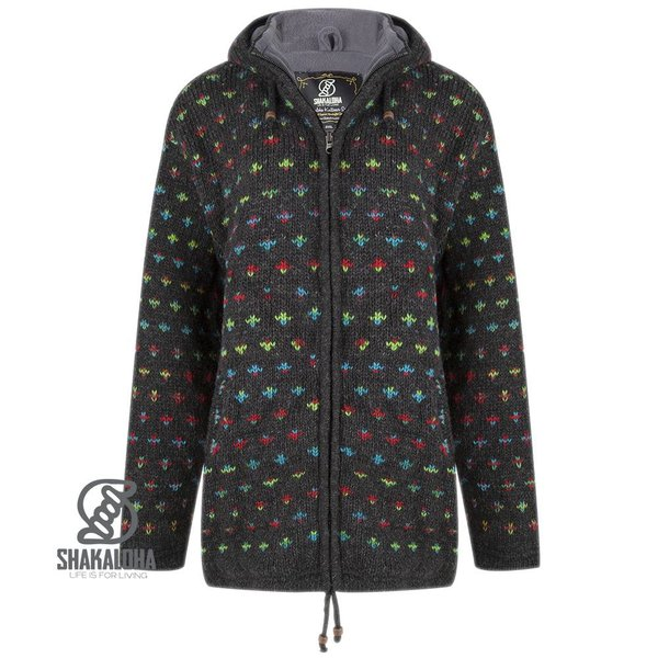 Shakaloha Flake Hood Woman Anthracite Multi Color