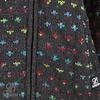Shakaloha Flaka handgestrickte Damenwolljacke mit Kapuze im ungestÌ_men Farbton anthrazit mit bunten Akzenten
