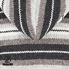 Pilgrim Natural handgestrickte Kapuzenjacke fÌ_r Damen in moderner Graufarbkombination