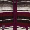 Pilgrim handgestrickte Kapuzenjacke aus nepalesischer Schafwolle weinrot-grau gestreift fÌÎ_r Damen