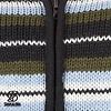 Pilgrim Kapuzenjacke aus handgestrickter Schafwolle aus Nepal grÌ_n-blau gestreift fÌ_r Damen