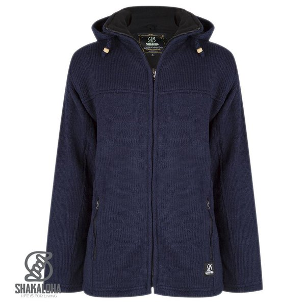 Shakaloha Shakaloha Navigator marinefarbene Wollstrickjacke fÌ_r Damen und Herren