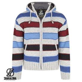 Shakaloha Jive Grey Red Navy Wool Jacket