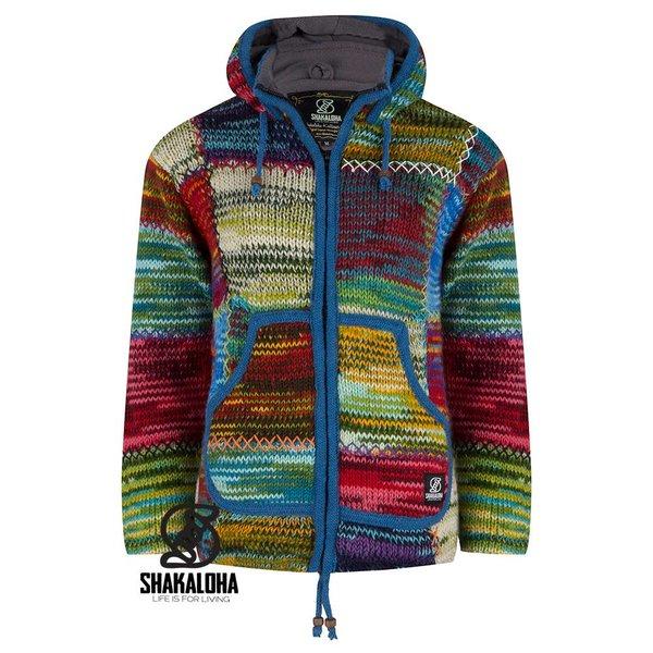 Shakaloha Shakaloha Dames Patchwork NH Vintage Wollen Vest gebried van pure wol
