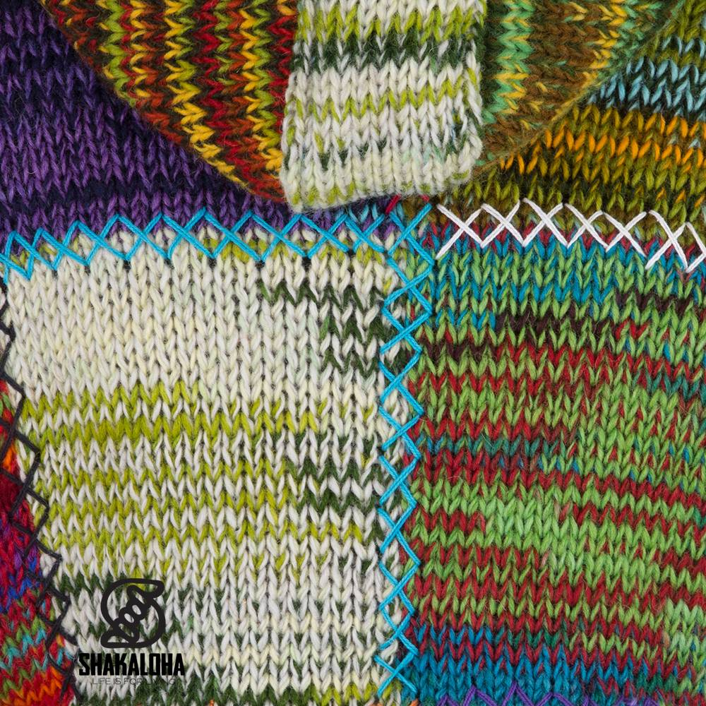 Shakaloha Shakaloha Vintage Patchwork Woman Wool Cardigan ...