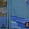 Shakaloha Patchwork Aqua Gebreid met Fleece Gevoerd Wollen dames vest aqua gekleurd