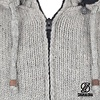 Shakaloha Radical Ziphood Grey Knit Wool Jacket with Fleece Lining