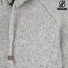 Shakaloha Radical Ziphood Grey Fleece Gevoerd Wollen Vest met Raglan Mouwen