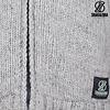Shakaloha Radical Ziphood graue handgestrickte Wolljacke mit abnehmbarer Kapuze fÌ_r Damen und Herren