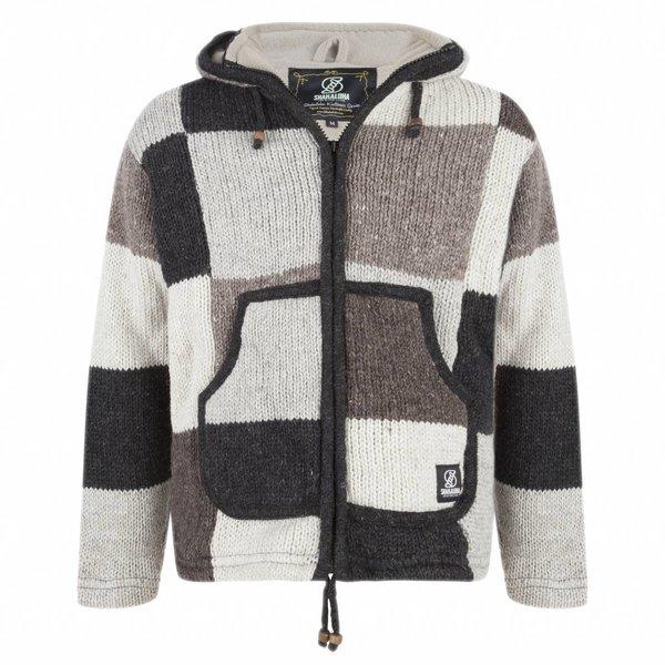 Shakaloha Patchwork Man NH Natural Brown Woolen Vest