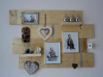Decoratiebord steigerhout - Decoratie van wc ...