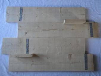 Steigerhouten planken aan elkaar bevestigen