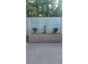 Scherm / plantenbak tbv terrasafscheiding