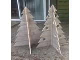 Grote kerstboom steigerhout