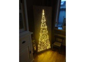Bord verlichte kerstboom