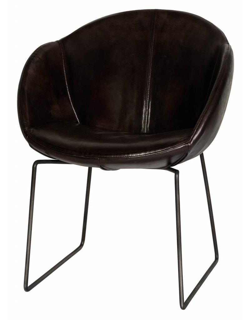 Lifestyle Dining Chair Los Angeles Leather Gun Metal