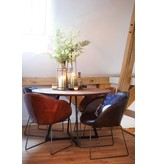 Lifestyle Los Angeles Leather Dining Chair Light Brown
