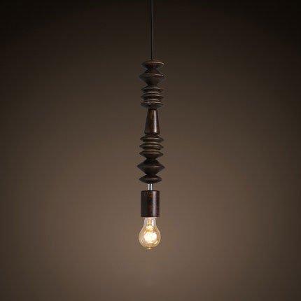 Pracht Label Hanging lamp Willemstad Wooden beads dark