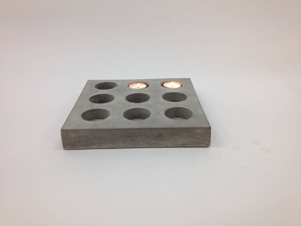 IO Scandinavia Tea Light Holder concrete