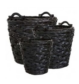 Affari Collect basket black (three dimensions)