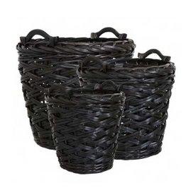 Affari Sammeln Sie Korb schwarz (drei Dimensionen)