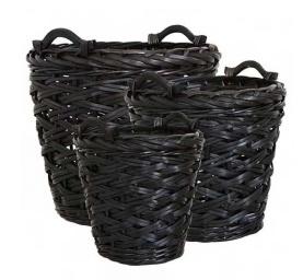 Affari Collect basket black (three dimensions)