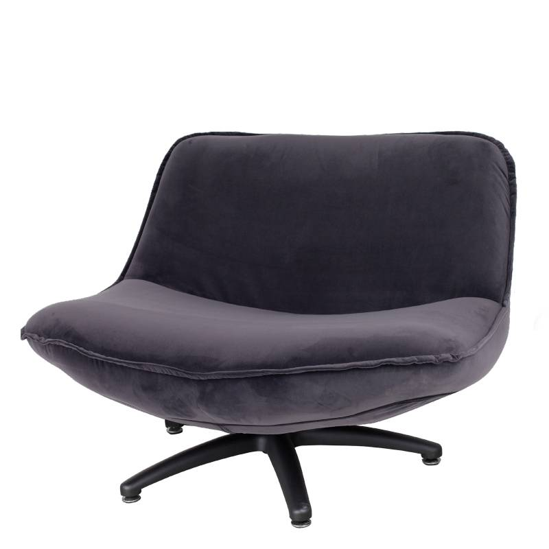 Lifestyle Forli Sessel grau schwarz Beine
