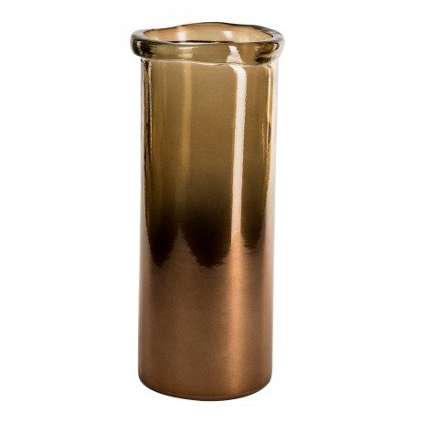 PTMD Melo braun Zylinder Vase L