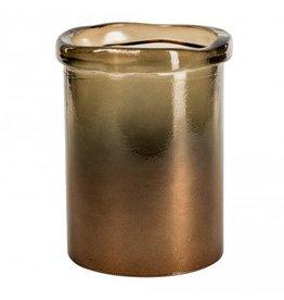 PTMD Melo brown cylinder vase S