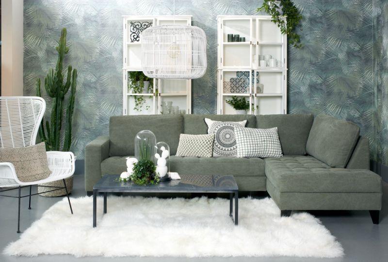 Lifestyle Rome Lounge green sofa