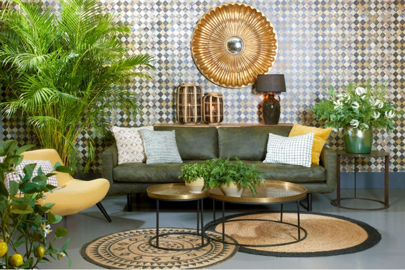 Lifestyle Genua sofa recycled leather