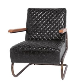 Lifestyle Edward armchair black