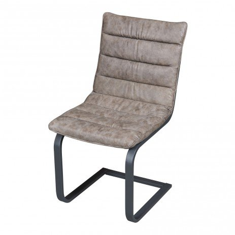 PTMD Franky chair leatherette black or taupe