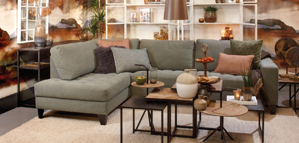 Lifestyle Rom Lounge grünen Sofa