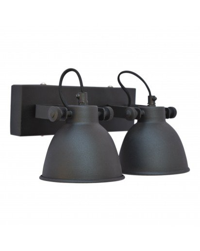 Urban Interiors STOCK SALE Wandlamp Industrial double Vintage Black