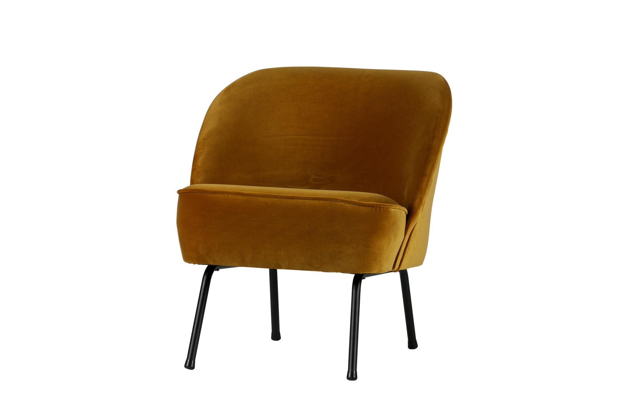 Vogue fauteuil velvet mosterd