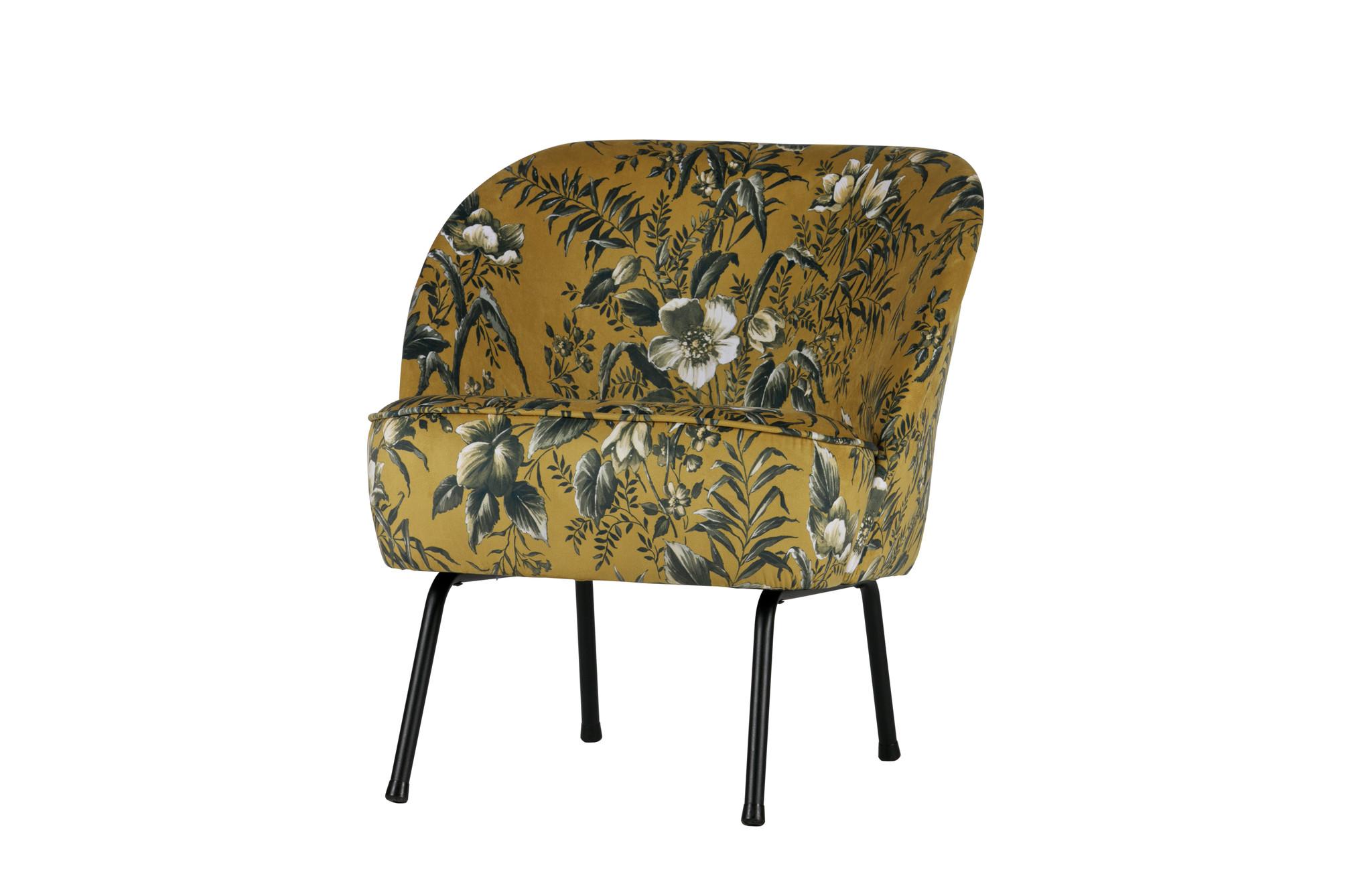 Vogue fauteuil poppy mosterd