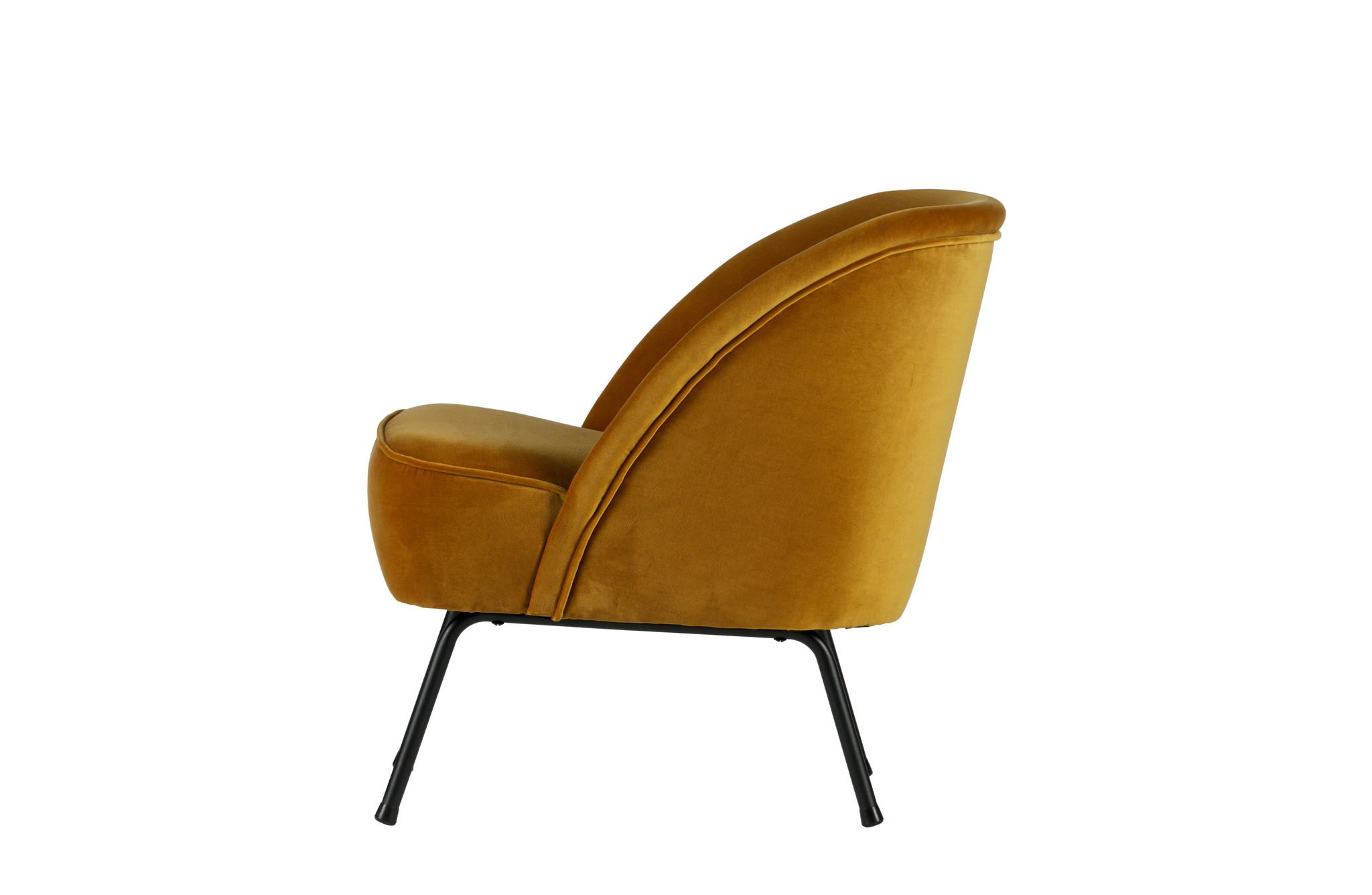 Vogue fauteuil mosterd velvet