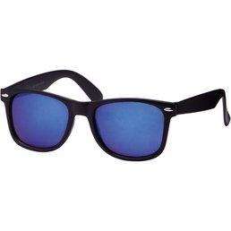 Wayfarer Mat Zwart Blauwe Glazen